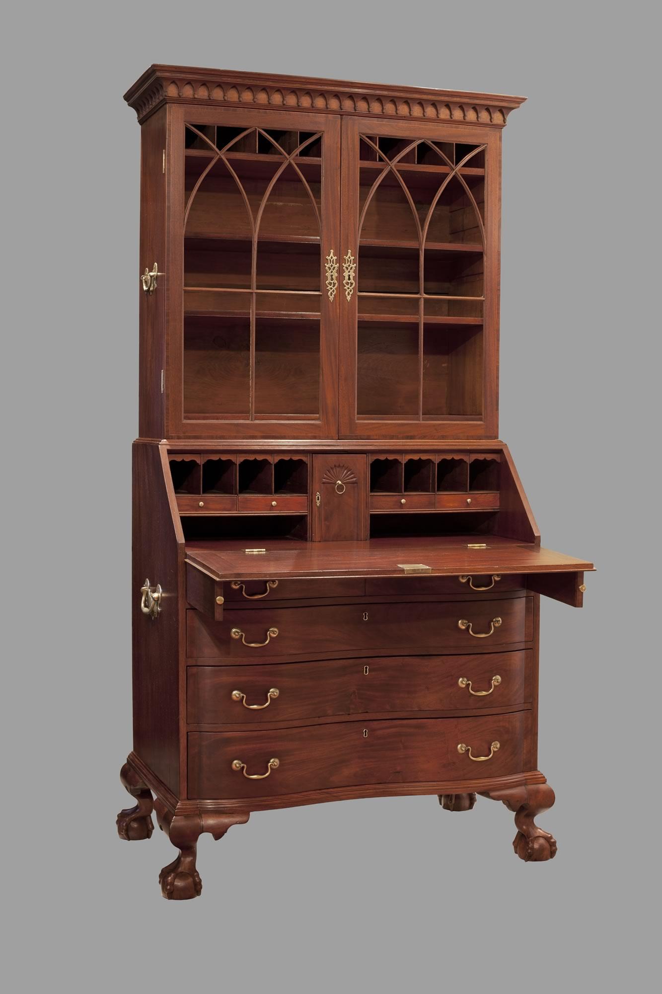 Click to view larger image - Boston, Chippendale Secretary Desk. Circa 1780 – 1790 · Gary Yeaton