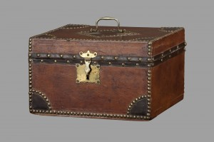 Leather-covered Deed Box