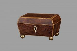 Burl Walnut Trinket Box